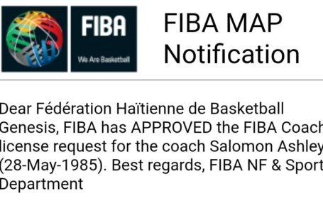 BASKET – FORMATION : HUIT ENTRAÎNEURS HAÏTIENS APPROUVÉS PAR LA FIBA