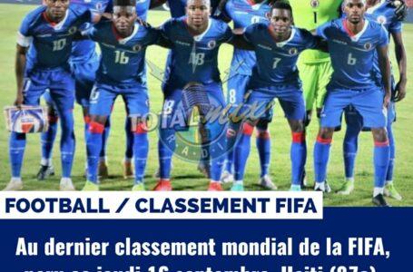 BELLE REMONTÉE D'HAITI DANS LE CLASSEMENT MONDIAL DE LA FIFA